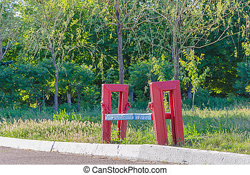 madeira, só, banco parque