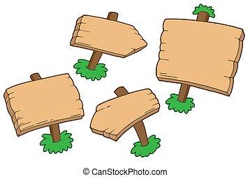 madeira, vário, sinais