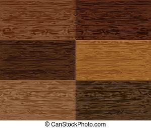 madeira, vetorial, jogo, seamless, patterns.