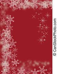 magia, natal, fundo, vermelho