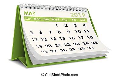 maio, 2019, calendário