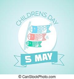 maio, japão, 5, childrens, dia