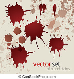 manchas, 3, jogo, splattered, sangue
