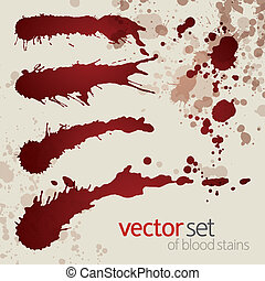 manchas, jogo, splattered, sangue, 10