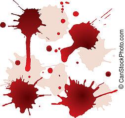 manchas, splattered, sangue