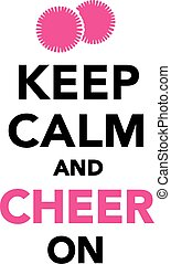 mantenha, alegria, cheerleading, pacata