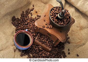 manual, moedor café