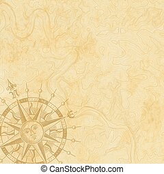 mapa, abstratos, topografia, retro, fundo