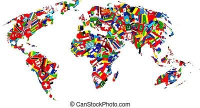 mapa, bandeira