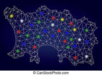 mapa, ilha, manchas, 2d, luminoso, vetorial, brilho, jersey, malha