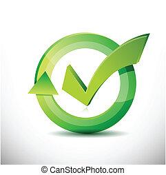 marca, –, aprovação, sinal, cheque, ciclo