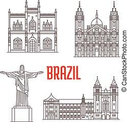 marcos, arquitetura, brasil, viagem