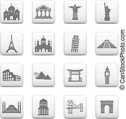 marcos internacionais, ícones