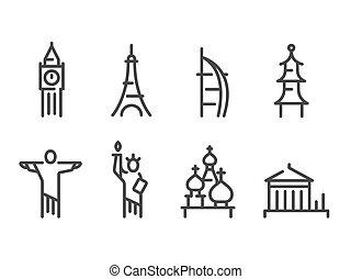 marcos, jogo, ícones