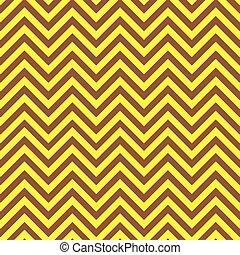 marrom, amarela, chevron, padrão