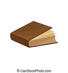 marrom, antigas, cobertura, ilustração, vetorial, fundo, branca, livro