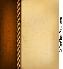 marrom, antigas, illustration., vindima, leather., papel, vetorial, fundo