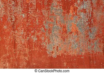 marrom, grunge, parede pintada, fundo, antigas, vermelho