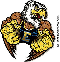 mascote, águia