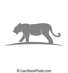 mascote, animal, gráfico, modelo, emblema, tiger, ilustração