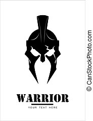 mascote, guerreira, trojan, sparta, centurion, logotipo