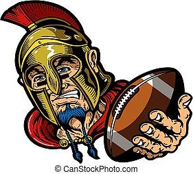 mascote, spartan, futebol