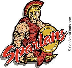mascote, spartan
