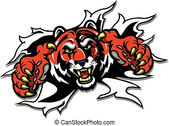 mascote, tiger