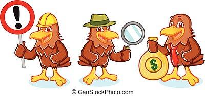 mascote, vetorial, falcão, sinal
