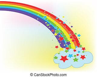mash, arco íris, usado