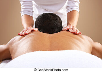 massagem, homem