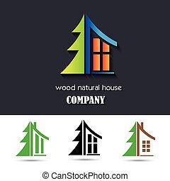 material, casa, símbolo, madeira