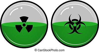 material, radioativo