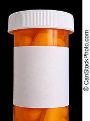 medicina, pílulas, garrafa