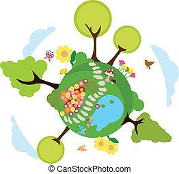 meio ambiente, terra, fundo