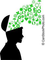 meio ambiente, verde, mente