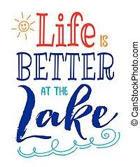 melhor, vida, lago