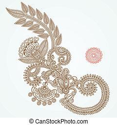 mendy, abstratos, henna, flor