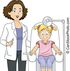 menina, odontólogo