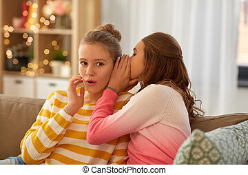 meninas adolescentes, lar, fofoque