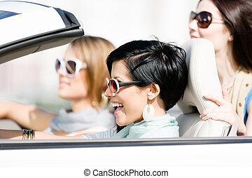 meninas, grupo, car