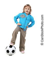 menininha, bola, futebol