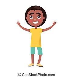 menino, crianças, celebra, internacional, feriado, afro