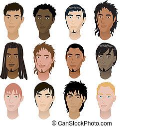 mens, rostos 6