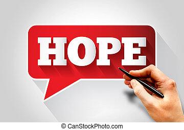 mensagem texto, esperança