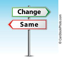 mesmo, vetorial, ou, mudança, sinal
