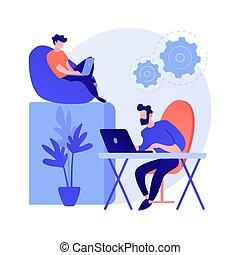 metáfora, técnico, conceito, apoio, vetorial