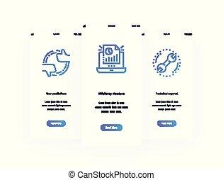 metaphors., vertical, apoio técnico, eficiência, predições, medida, usuário, cartões, forte