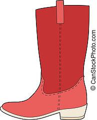 meu, botas vermelhas