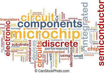 microchip, palavra, nuvem